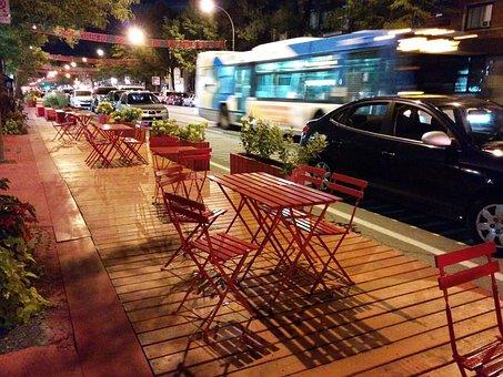 St-denis, Montreal, Terrace, Restaurant, Quebec, Canada