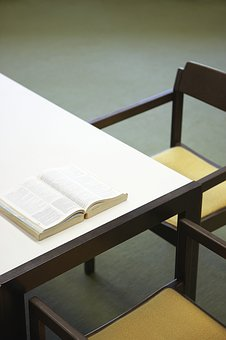 Desk, Book, Chair, Table, Office, Study, Wooden