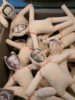 Politician, Dolls, Voodoo, Merkel, Erdogan, Berlusconi