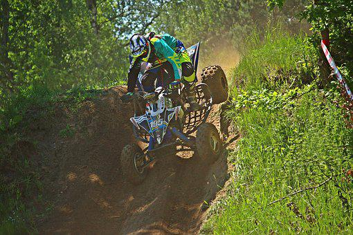 Quad, Slope, Enduro, Motocross, Motorcycle Sport