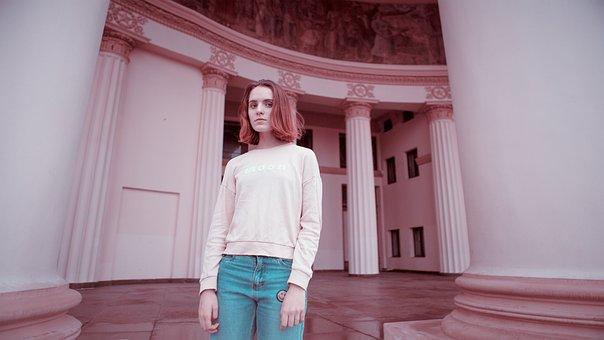 Girl, Enea, Photoshoot, Moscow, Park, Portrait, Model