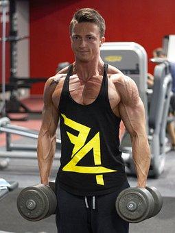 Fitness, Strengthening, Muscles, Dumbbells, Exercise