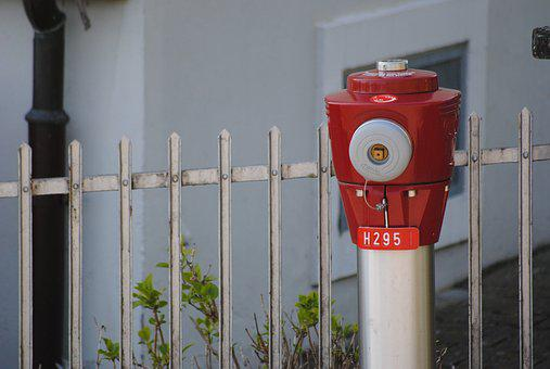 Hydrant, Red, Garden, F, Fire, Stainless