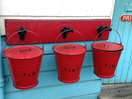 Fire, Water, Bucket, Fire Delete, Fire Fighting Water