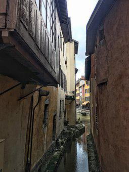 Annecy, France, French, Town, Water, City, Europe