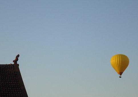 It, Hot Air Balloon, It Coconut, Landscape Quiet