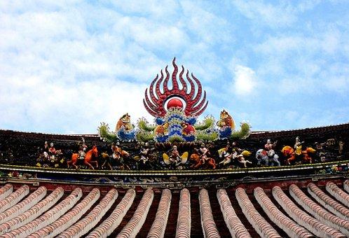 廟-woo, House 簷, Color, Koji Pottery Pieces, Immortals