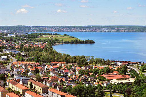 Huskvarna, Vättern, Lake, Landscapes, Water, Sweden