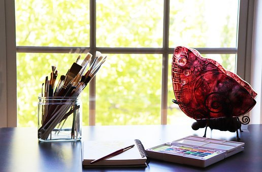 Paint, Watercolor, Paint Brushes, Art Studio