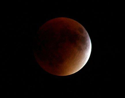 Red Moon, Moon, Eclipse, Space