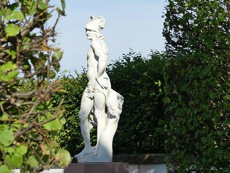 Hermes, Statue, God, Greek, Schwetzingen, Sculpture