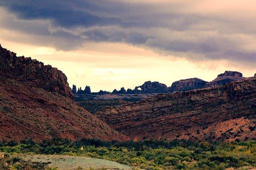 Arches National Park, Utah, Moab, Southwest, Sky
