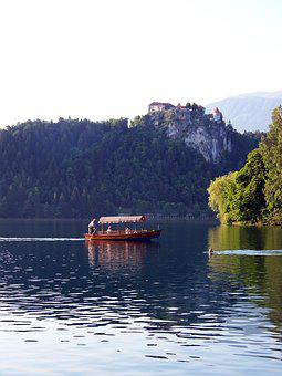 Lake Bled, Slovenia, Gondola, Boot, Karawanken, Jumbo