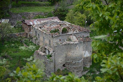 Turkey, Gümüşhane, Süleymaniye, Spring, Vank Church