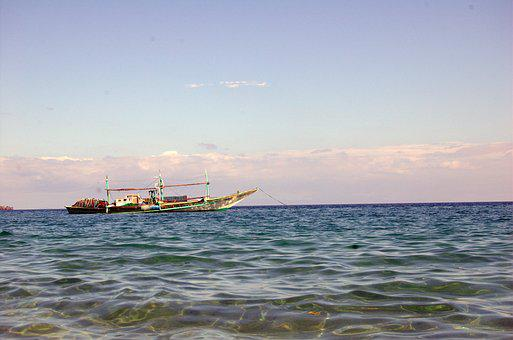 Boat, Beach, Sea, Water, Vacation, Philippines