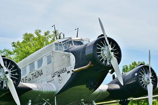 Vintage Aircraft, Cockpit, Airshow, Old, Vintage