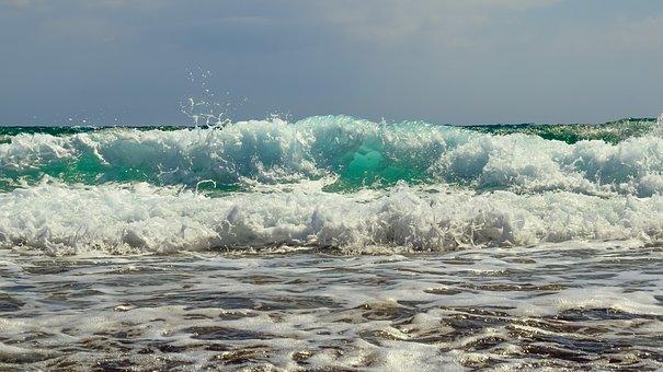 Wave, Smashing, Beach, Nature, Seascape, Splash, Crash