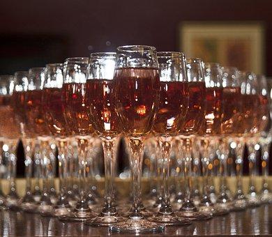 Champagne, Glasses, Celebration, Alcohol, Wine, Party