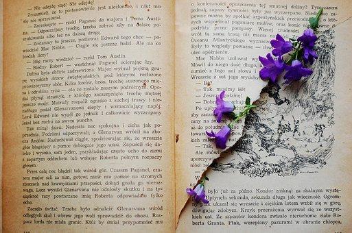 Book, Old Book, Flower, Flowers, Violet, Vintage, Old