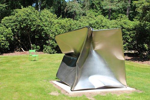 Sculpture, Garden, Metal, Sculpture Garden, Green