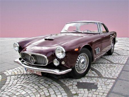 Maserati, 3500 Gt Coupé, Chrome, Gloss, Sports Car