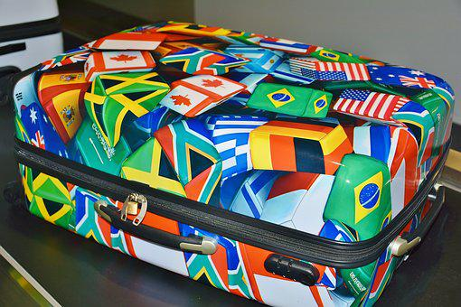 Luggage, Colorful, Vacations, Travel, Go Away