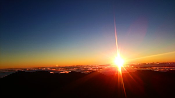 Sunrise, Haleakala, Hawaii, Maui, Nature, Landscape
