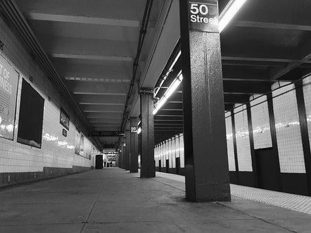 New York, Subway, 50th Street, Platform