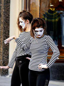 Mime, Art, Performance, Female, Expression
