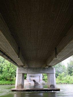Bridge, River, Water, Architecture, Building, Road