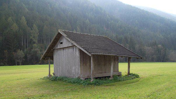Barn, Scale, Field Barn, Alpine Hut
