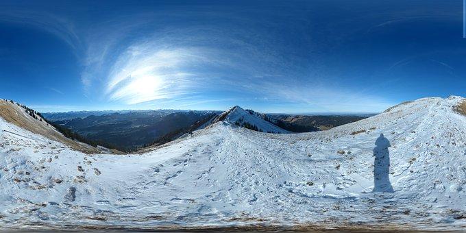 Winter, Panorama, Mountains, Snow, Allgäu, Sky