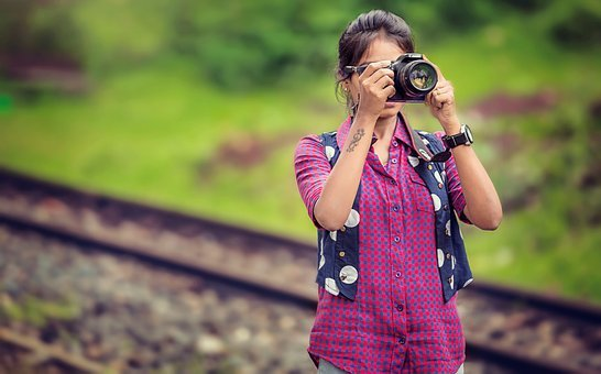 Camera, Canon, Women, Style, Adult, Photography, Lens