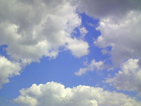 Cumulus, Clouds, Sky, Blue, August, Summer, Nature