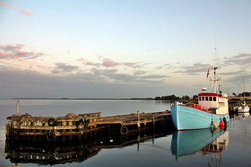 Port, Port Motifs, Abendstimmung, Kragenäs, Lolland