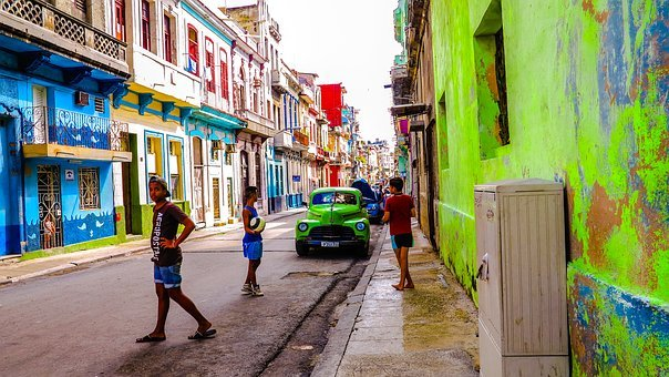 Cuba, Havana, Old Houses, Monuments, Architecture
