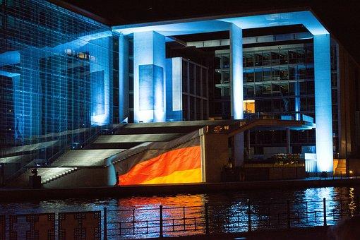 Reichstag, Night, Berlin, Show, Landmark, Germany