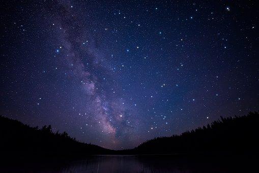 British Columbia, Canada, Clear, Lake, Milky Way, Night