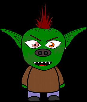 Dress-up Head, Goblin, Monster