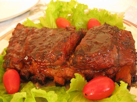 Food, Ribs, Barbecue