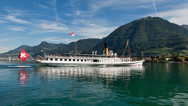 Geneva, Lake, Switzerland, Lake Geneva, Water, Montreux