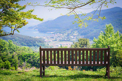 Tongyeong, Nature, Landscape, Bench, Chair, Healing