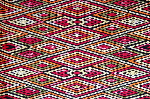 Laos, Weaving, Fabric, Relief, Tapestry, Deco, Frame