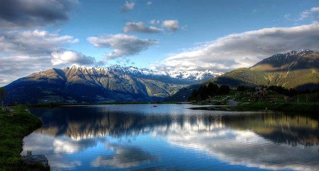 Wolfssee, Lake, Austria, Nature, Landscape, Mountains