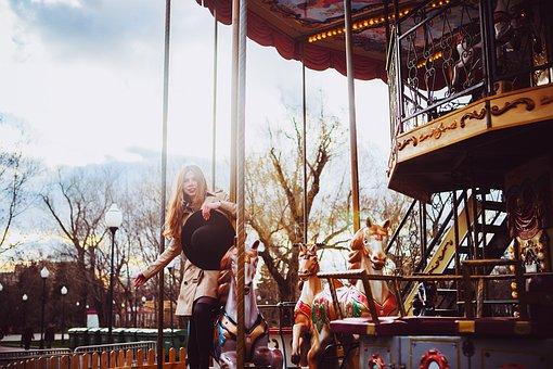 Park, Girl, Attraction, Hat, Summer, Photoshoot, Girls