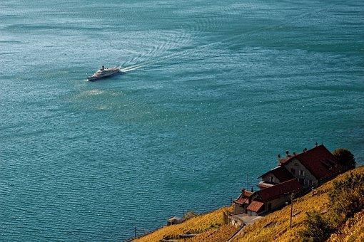 Lake Geneva, Switzerland, Vaud, Boot, Blue, Water, Lake