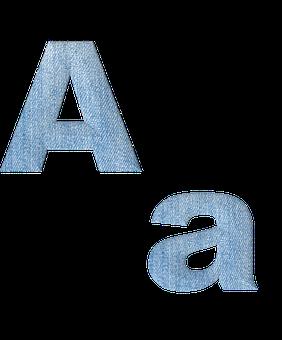 Fabric, 3d, Denim, Alphabet, Letter, A, Font, Text