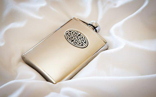 Whisky, Hip Flask, Bottle, Silver, Alcohol, Flask