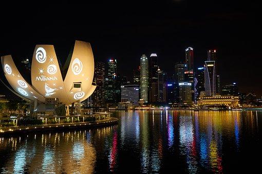 Singapore, City, Skyscraper, Travel, Architecture