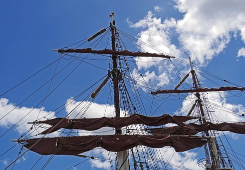 Rigging, Brahmsegel, Tall Ship, Zweimaster, Brigg